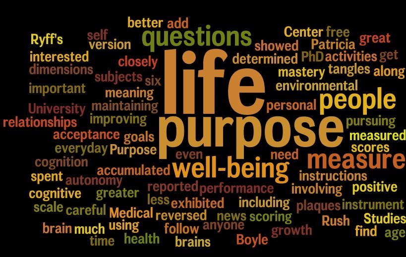 Purpose to life